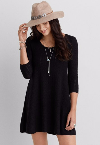 Stitched Sweater Dress from AEO